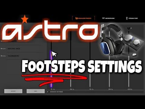 Astro A40 Tr Best Settings For Footsteps Youtube Astro Best Settings Call Of Duty Multiplayer