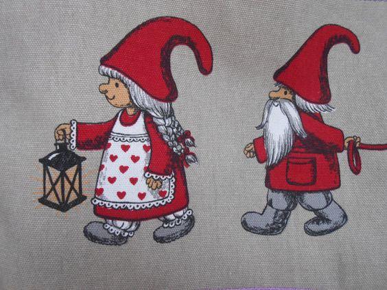 Scandinavian Christmas Gift bag Gift Sack by Vivicreative on Etsy, $14.00