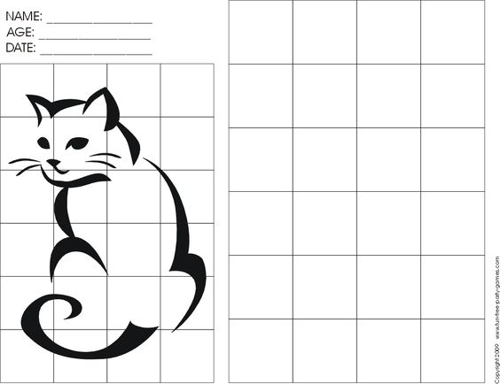 Printables Grid Art Worksheets cats google images and cat outline on pinterest grid art worksheets the airport would serious free printable christmas crossword