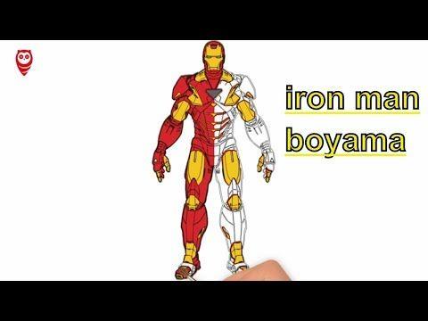 Demir Adam Iron Man Boyama Ve Cizim Sayfasi Cocuklar Icin Nasil