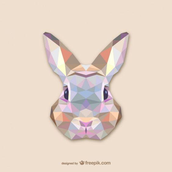 Conception triangle de lapin