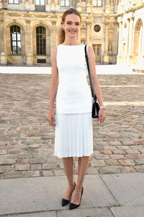 Natalia Vodianova - Paris Fashion Week. (September 2014)