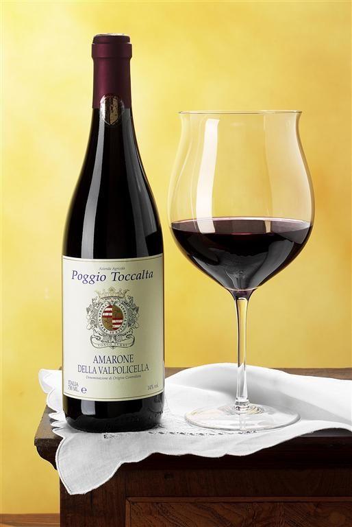 Amarone Della Valpolicella. I've never had this wine before, but I LOVE this glass.