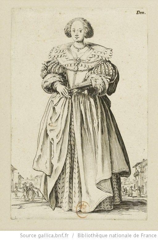 [La noblesse]. [9], [La dame à l'éventail] : [estampe] / [Jacques Callot] - 1