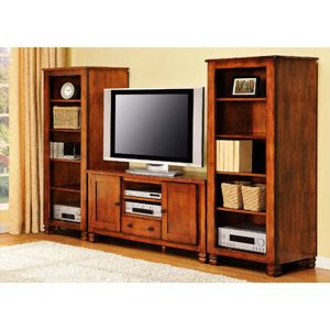 """Summit Mountain TV Stand with 2 Media Stands Bundle, for TVs up to 50"""""""