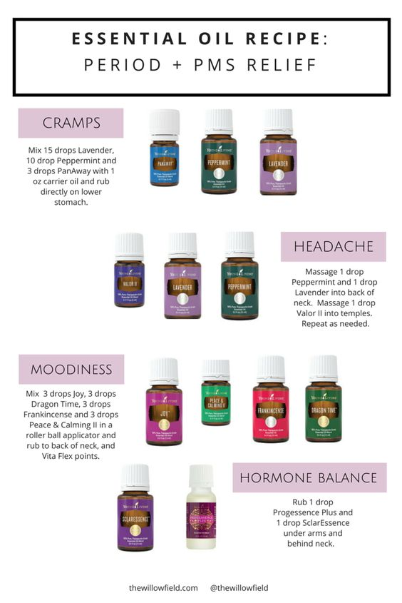 Essential Oil Recipe: Period + PMS Relief — The Willow Field