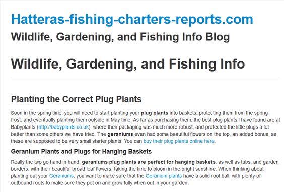 Wildlife, Gardening, and Fishing Info Blog