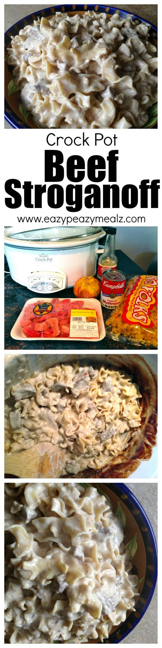 Fast, easy to make, beef stroganoff, that is family friendly and cooked in the Slow Cooker or Crock Pot! This is one of the most popular recipes on this blog and for good reason. - Eazy Peazy Mealz: