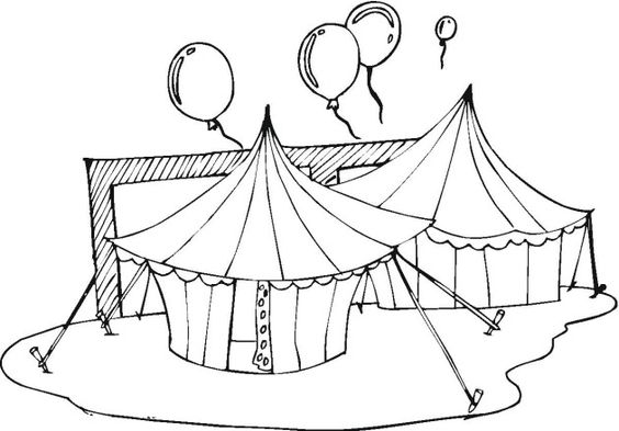 circus tent coloring pages preschool - photo#13