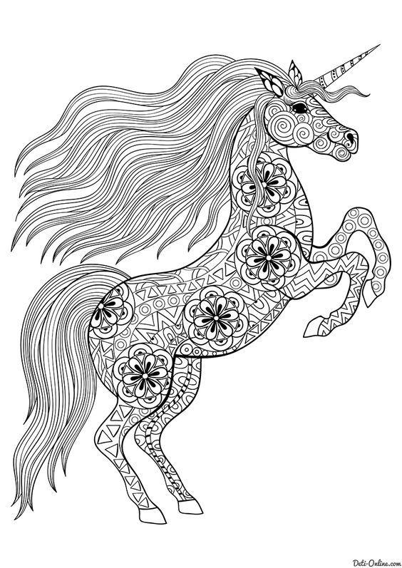 De Unicornios Para Pintar E Imprimir Mandalas De Caballos