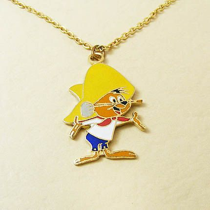 Vintage Aviva Speedy Gonzales Necklace 318 by ronahorn on Etsy, $7.95: