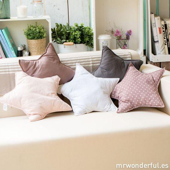 Cojín de estrellita - Color rosa pastel - Decoración Mr. Wonderful shop