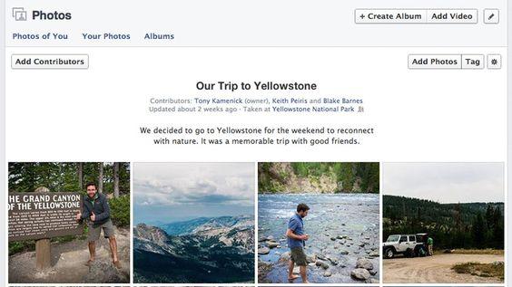 O Facebook anunciou nesta segunda (26/08) os álbuns de fotos colaborativos, que podem ter a participação de até 50 usuários, cada um podendo acrescentar até 200 fotos. Veja como ficarão as configurações de privacidade e como fazer para que álbuns existentes se tornem compartilhados. No TechTudo ♦ por Gabriela Viana.