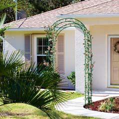 soporte para plantas trepadoras-arco metalico