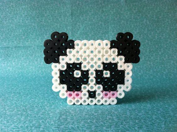 Kawaii Panda Perler Bead by GeektasticCrafts on Etsy, $2.99