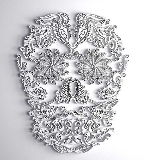 I know it is a skull but more of them grouped together with a pop of color with would be pretty.