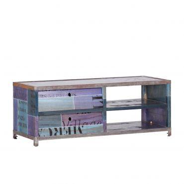 Tv-meubel Paint - blauw-mix | home24.nl