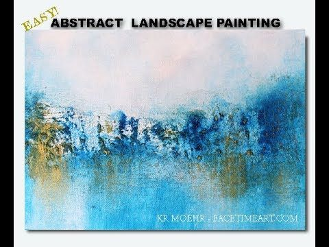 How To Paint Art Easy Abstract Landscape Tutorial Working With