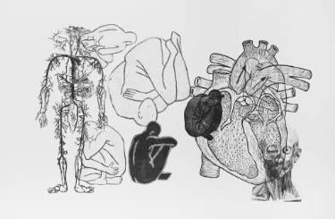 "Saatchi Art Artist Merkuria Czerwińska; Printmaking, ""body e/a (1/5)"" #art"