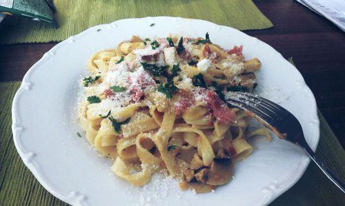 Lunch #tagliatelle,  prosciutto -  #lunch