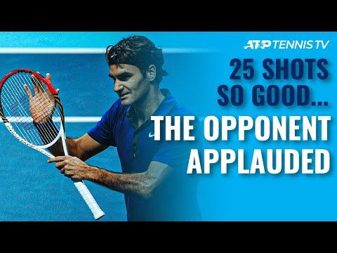25 Tennis Shots So Good The Opponent Had To Applaud Youtube In 2020 Tennis Tennis Videos Tennis Stars
