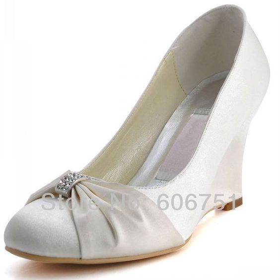 wedge heel white ivory satin wedding bridal wedge compare ivory wedge bridal shoes source