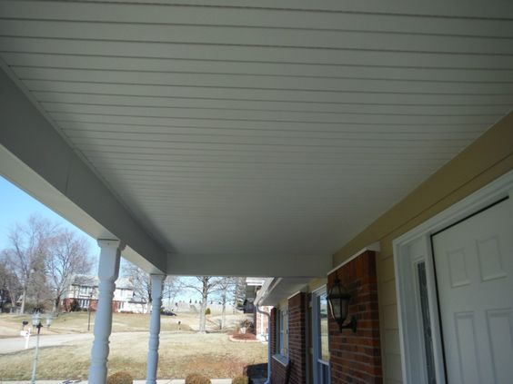 White Vinyl Hidden Vent Soffit Porch Ceilings