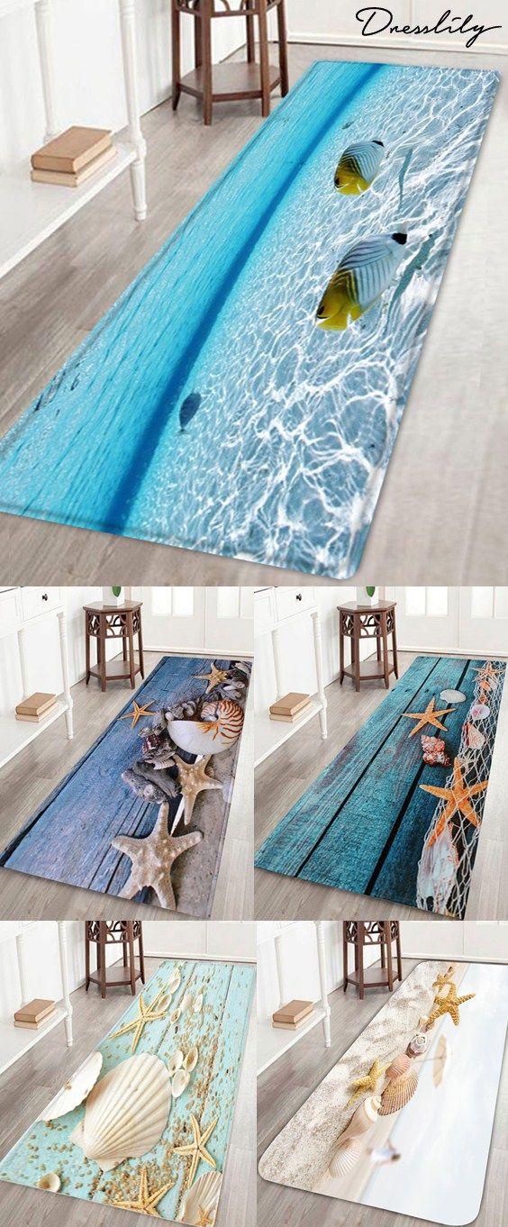 This Beach Style Bathroom Rug Features, Beach Bathroom Rugs