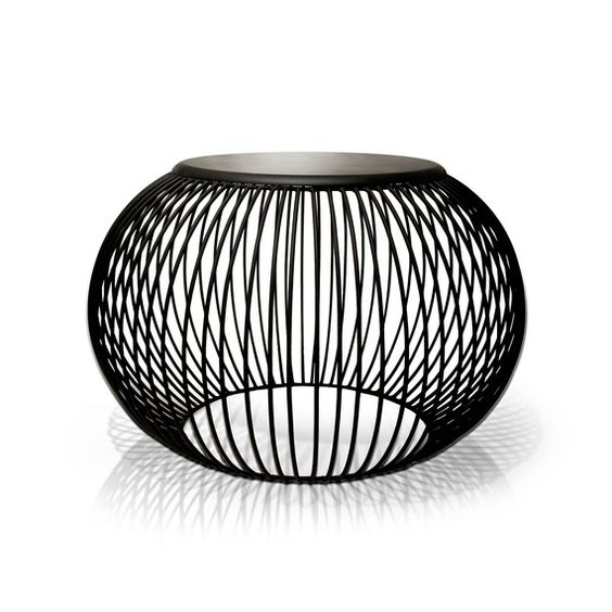Wire Pouf Stool / Sidetable - Tucker Robbins