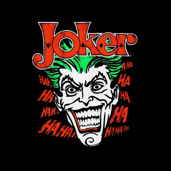 Camiseta chica Batman. Joker, risas