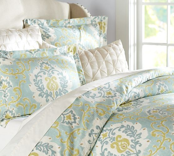 Joyce Ikat Duvet Cover & Sham | Pottery Barn. LOVE!!!!