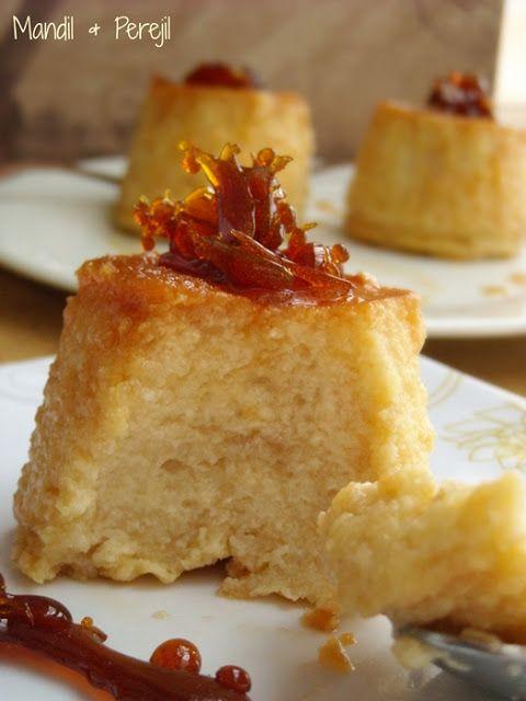 Mandil perejil flan de manzana y bizcochos en - Bizcocho con microondas ...