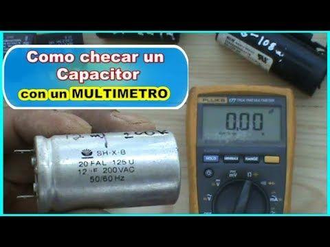 testear checar un Capacitorescon Como probar multimetro wOukZXTPi