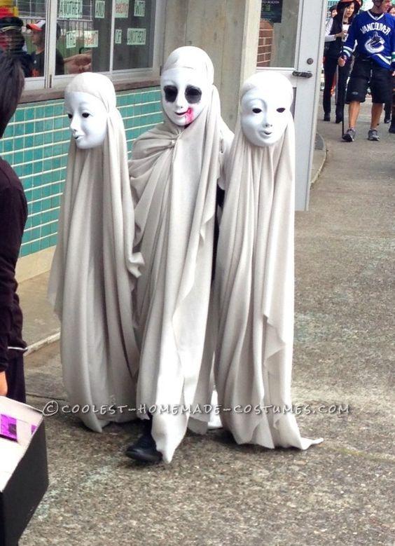 Costumi Halloween Idee.Creepy Ghosts Three Headed Illusion Costume Costumi Di Halloween Bambina Costumi Di Halloween Per Bambini Costumi Di Halloween Fai Da Te