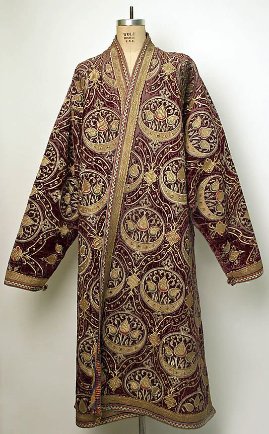 Central asia bokharan silk caftan 19th century early for Caftan avec satin de chaise