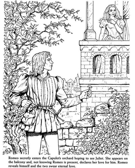 romeo and juliet coloring pages - photo#32