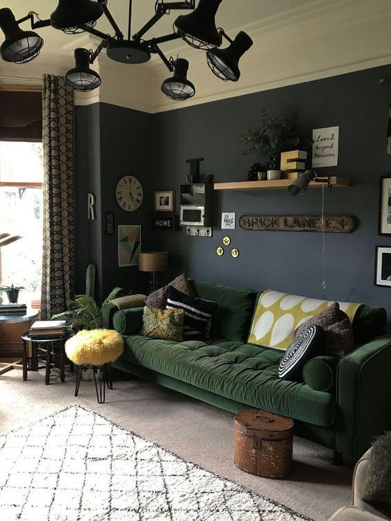 Green Details Inspiration In 2020 Room Furniture Design Velvet Living Room Furniture Funky Home Decor #velvet #living #room #furniture