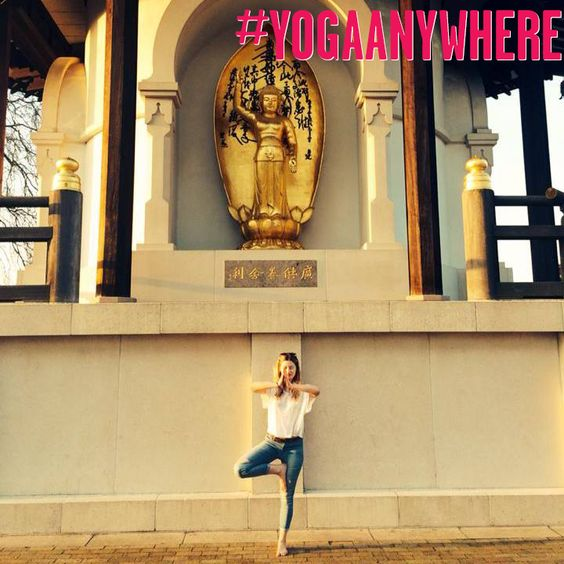 #yogaanywhere in a London park