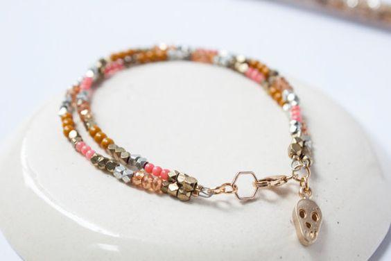meraki bracelet // gemstone beaded bracelet