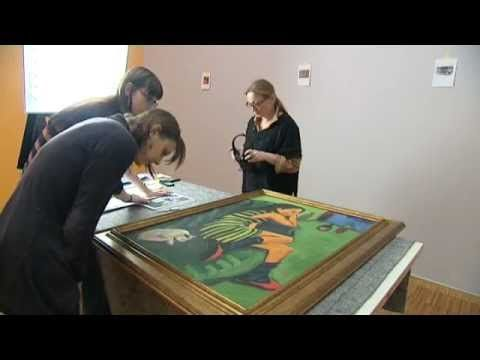 """Montage de l'exposition """"Die Brücke"""" au Musée de Grenoble"""