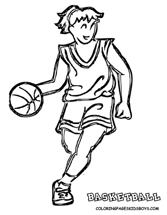 girl basketball coloring pages - photo#15
