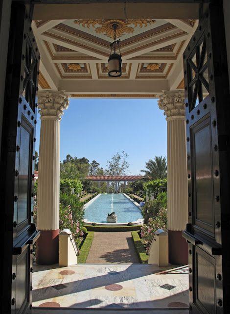 Getty Villa pool  www.meghanbob.com: