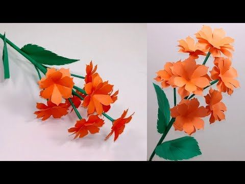 Diy How To Make Beautiful Paper Stick Flower Paper Craft Ideas