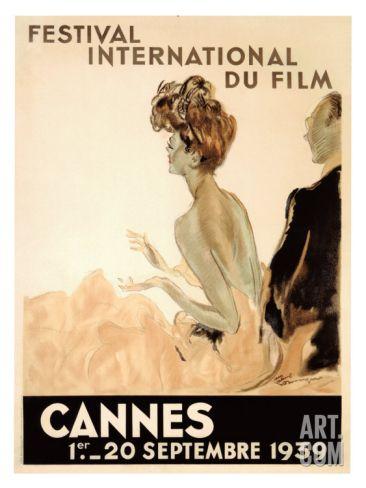 Festival International du Film, Cannes, 1939 Giclee Print by Jean-Gabriel Domergue at Art.com