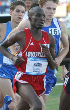 Louisville's own Wesley Korir wins the Boston Marathon. His pace for 26.2 miles? A 12.3 on the treadmill.
