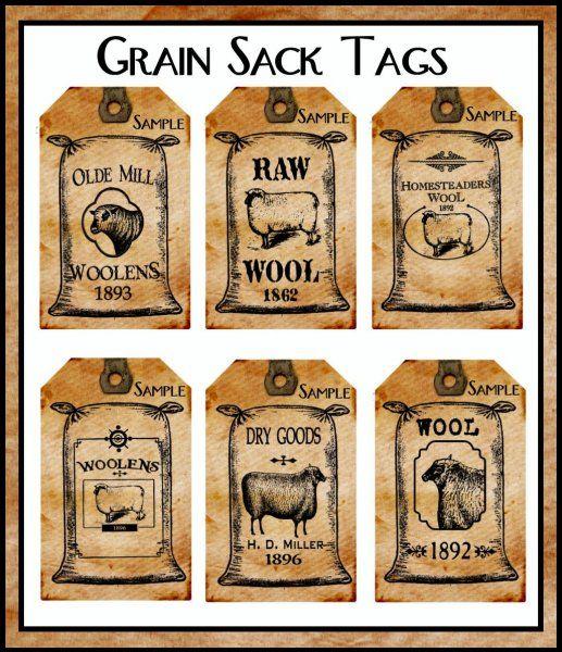 Sacks bags and primitive crafts on pinterest for Free primitive craft patterns