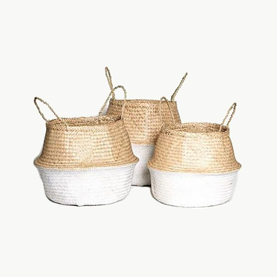 SEAGRASS Belly Baskets | Bohemian Luxe Homewares | dosombre.com