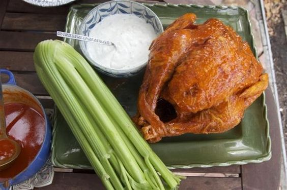 If you're more the hot wings type, try this Buffalo Deep Fried Turkey instead of a traditional Thanksgiving bird.