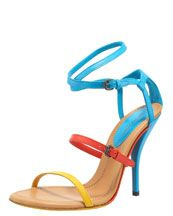 Bottega Veneta Colorblock Strappy Sandal...want it!