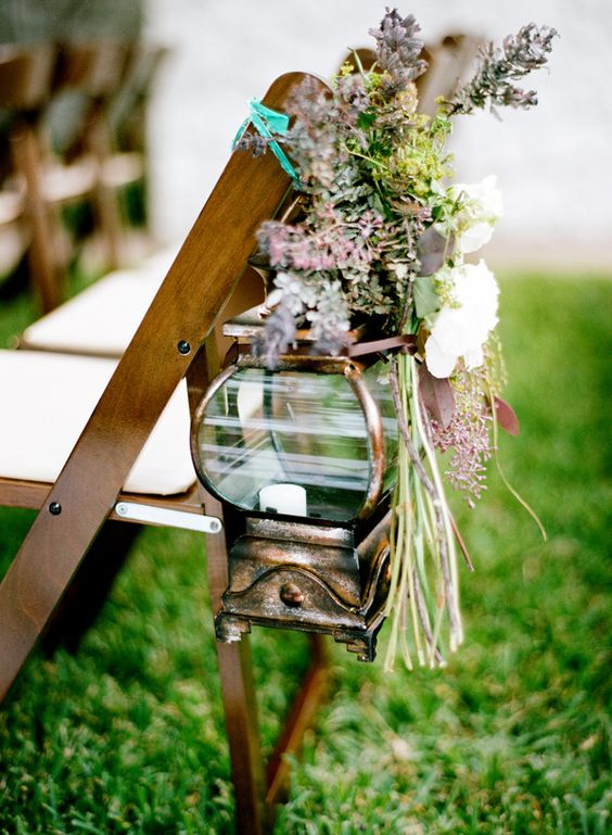 rustic weddings aisle decoration flowers